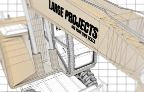AE模板 工程建筑施工草图文字标题变换动画 Construction Titles