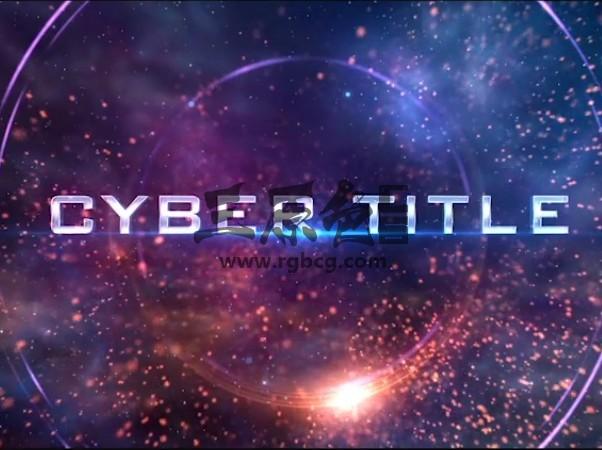 AE模板 动作电影图文预告幻灯片展示 Cyber TItle Opener Ae 模板-第1张