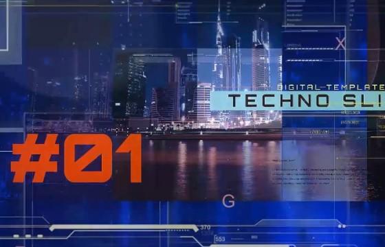 AE模板-大数据中心图文技术幻灯片 Data Center Techno Slides