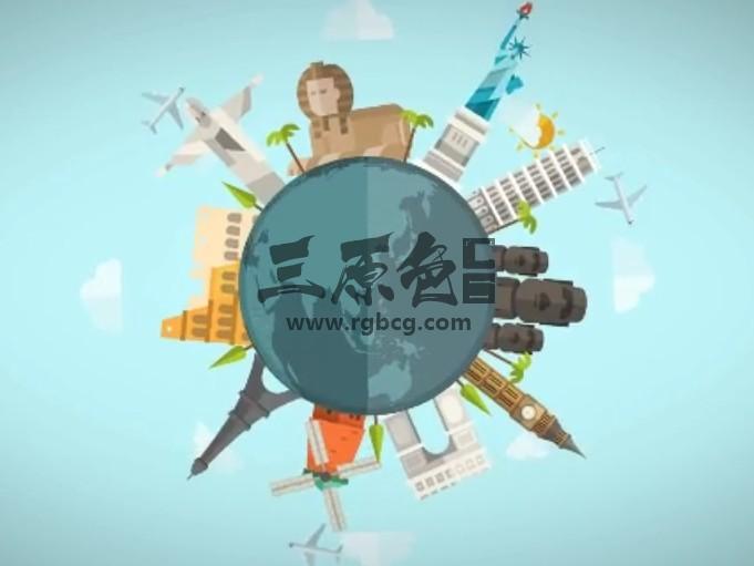 AE模板 全球著名旅游景点 卡通动画 Different Ideas Ae 模板-第1张