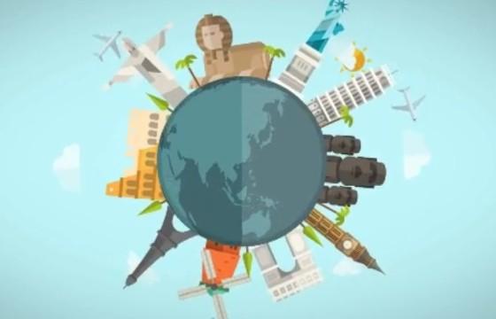AE模板 全球著名旅游景点 卡通动画 Different Ideas