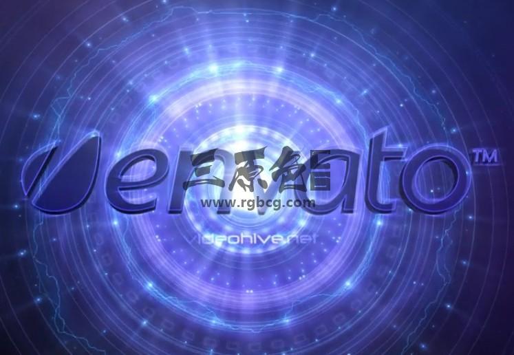 AE模板 银河系时光隧道文字LOGO显示 Disk Galaxy Logo Reveal Ae 模板-第1张