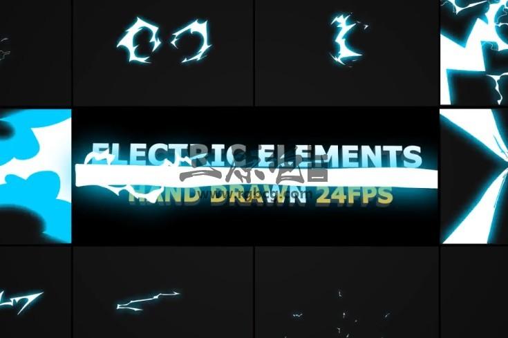 AE模板-动态卡通图形动画 闪电元素 Dynamic ELECTRIC Elements Ae 模板-第1张