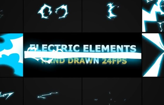 AE模板-动态卡通图形动画 闪电元素 Dynamic ELECTRIC Elements