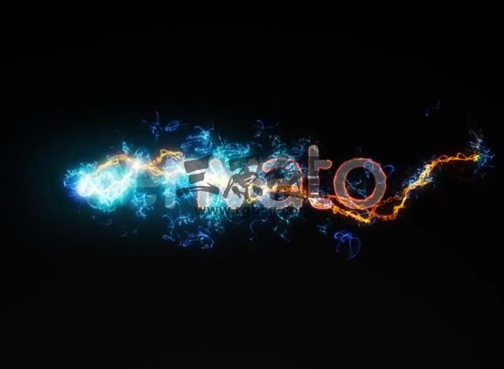 AE模板-能量发光闪电粒子特效LOGO片头 Electric Reveal Pack Ae 模板-第1张
