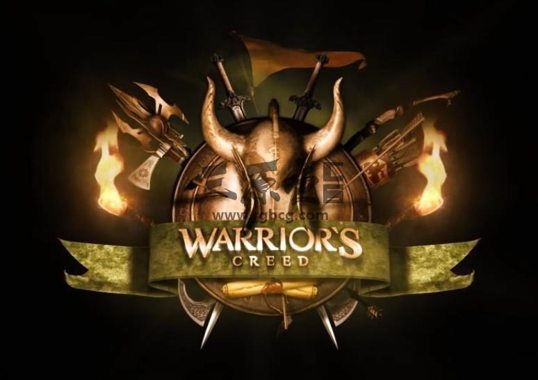 Pr基本图形模板 Mogrt预设 史诗战士 Epic Warrior Logo Pr 模板-第1张
