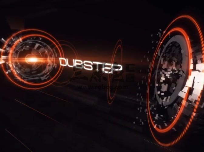 AE模板 高科技HUD文字标题动画 Fast Music Opener Ae 模板-第1张