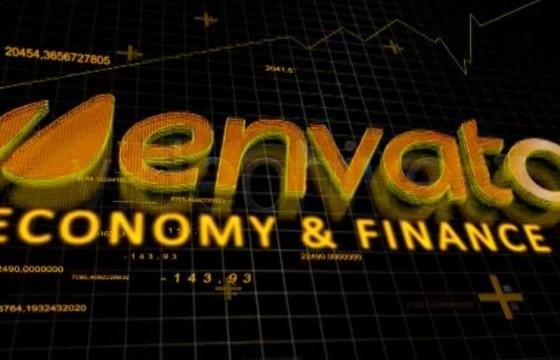 AE模板 金融经济LOGO标志片头展示 Finance Economy Intro
