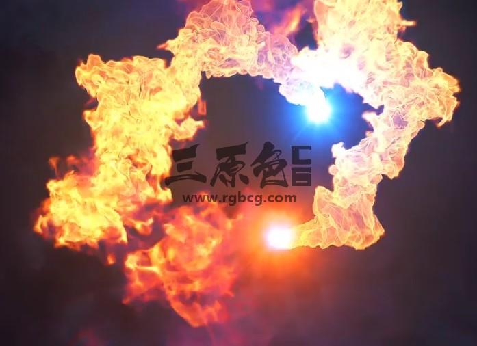 AE模板-火焰飞舞爆炸LOGO片头特效 Fire Explosion Logo Reveal II Ae 模板-第1张