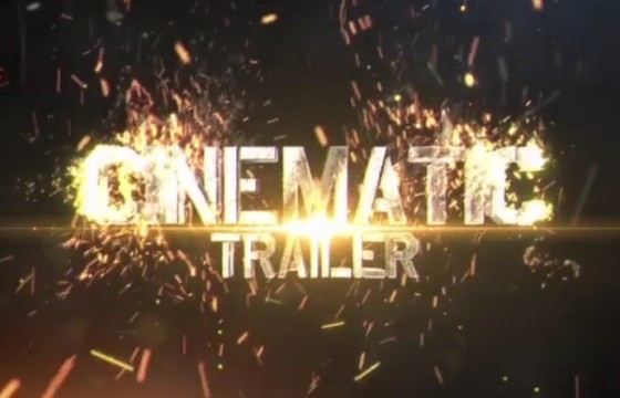 AE模板 碰撞火花粒子特效文字标题显示 Fireborn Cinematic Trailer