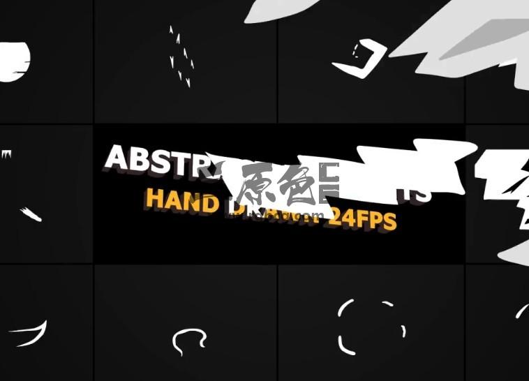 AE模板 MG卡通图形抽象动画元素 Flash FX Abstract Elements Ae 模板-第1张