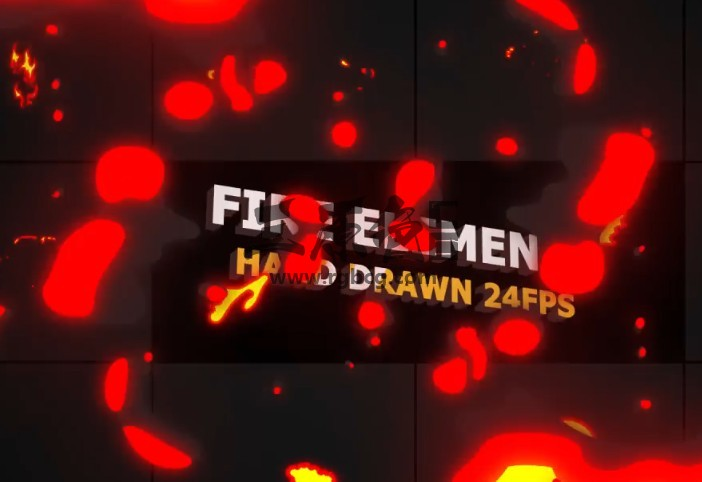 AE模板 MG卡通图形动画火焰元素 Flash FX Flame Elements Ae 模板-第1张