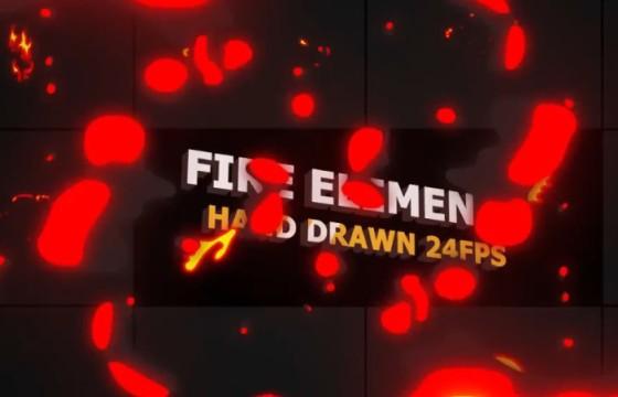 AE模板 MG卡通图形动画火焰元素 Flash FX Flame Elements