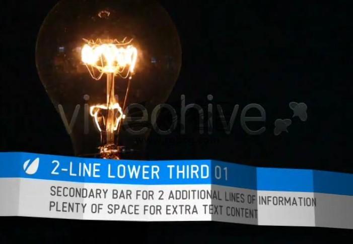 AE模板 卡片折叠效果字幕条文字动画 Foldable Lower Thirds Ae 模板-第1张