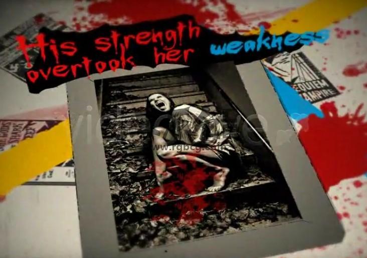 AE模板 万圣节恐怖惊悚鬼屋图文动态展示 Halloween Haunted House Ae 模板-第1张
