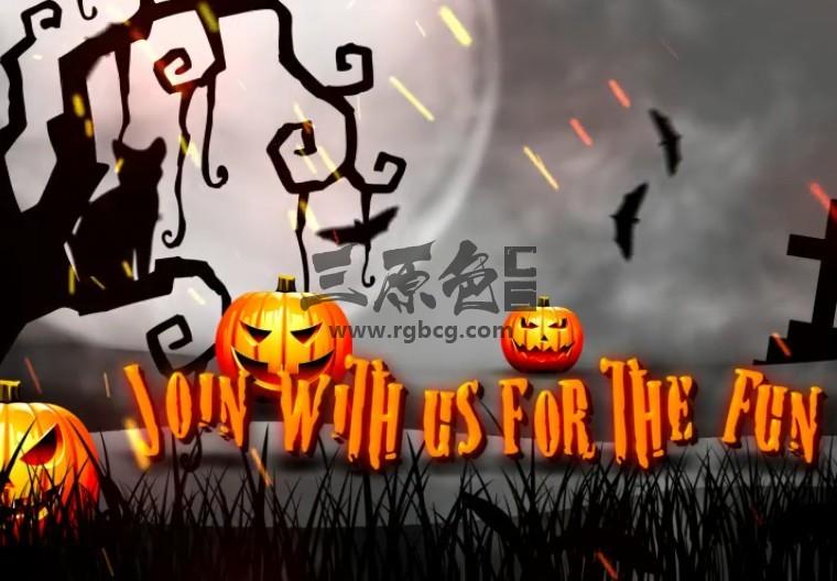 AE模板 万圣节图文预告片 Halloween Teaser Promo Pack Ae 模板-第1张