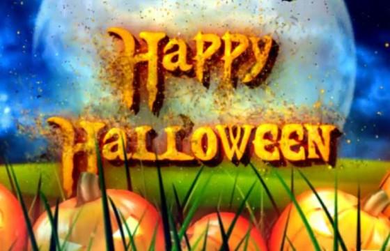 AE模板-万圣节的粒子文字LOGO片头 Halloween Wishes