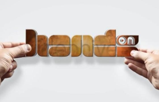 AE模板 创意手持LOGO标志放置动画 Hands On Logo