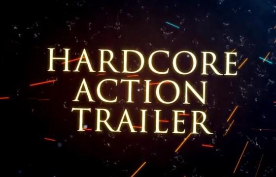 AE模板 粒子火花飞舞动作片预告片头 Hardcore Action Trailer