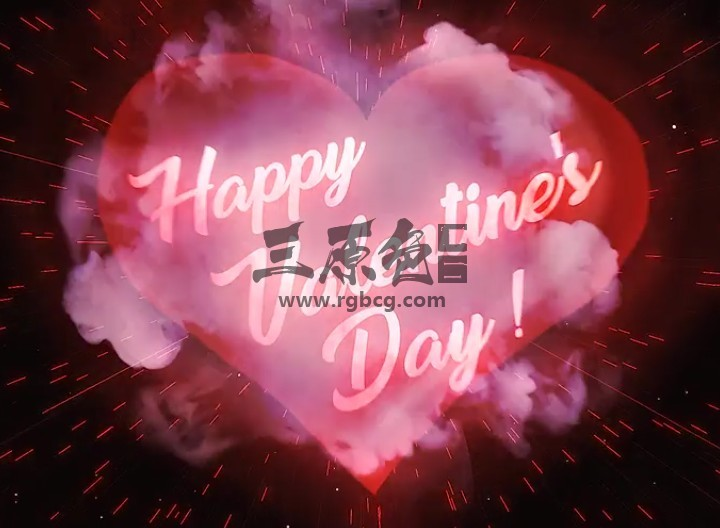 AE模板-心形文字标题图形动画 VideoHive Heart Love Logo Ae 模板-第1张
