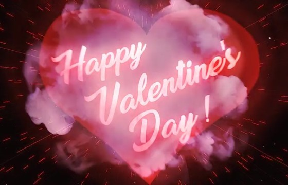 AE模板-心形文字标题图形动画 VideoHive Heart Love Logo