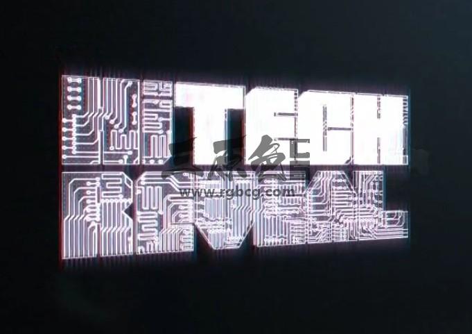 AE模板:高科技线路板图动画LOGO标志片头 Hi-Tech Reveal Ae 模板-第1张
