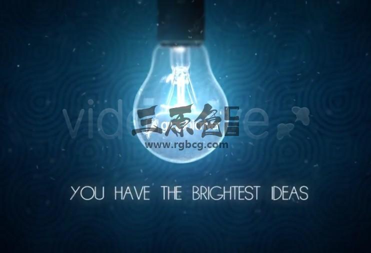 AE模板 灯泡点亮LOGO标志片头展示 VideoHive Idea Logo Ae 模板-第1张