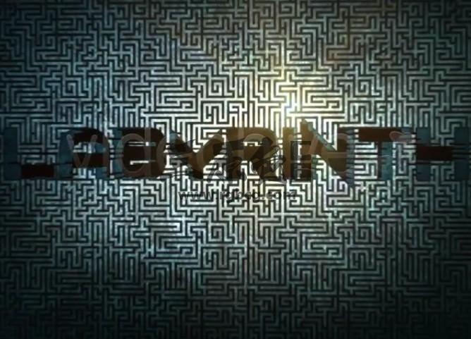 AE模板 迷宫纹饰装饰LOGO动画片头 Labyrinth Logo Ae 模板-第1张