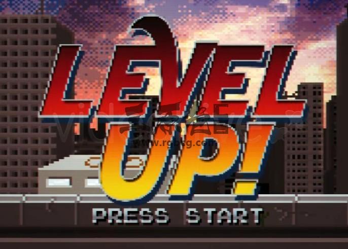 AE模板 70/80年代像素游戏风格文字标题片头 Level Up Ae 模板-第1张
