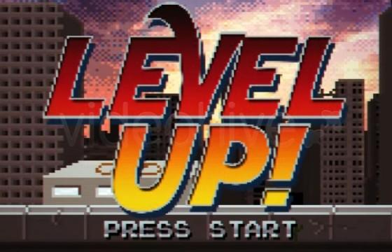 AE模板 70/80年代像素游戏风格文字标题片头 Level Up