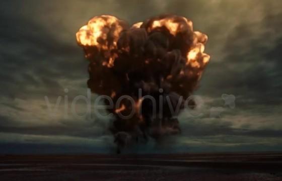 AE模板 爆炸蘑菇云升起LOGO标志显示 Logo Reveal