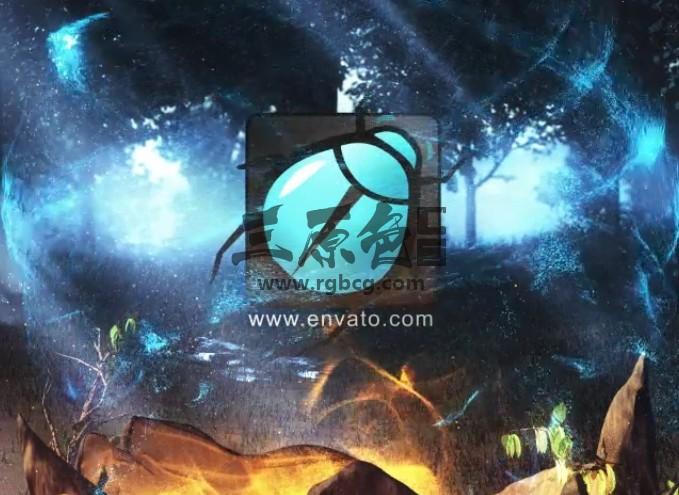 AE模板-神奇的自然LOGO标志片头 Magical Nature Logo Ae 模板-第1张
