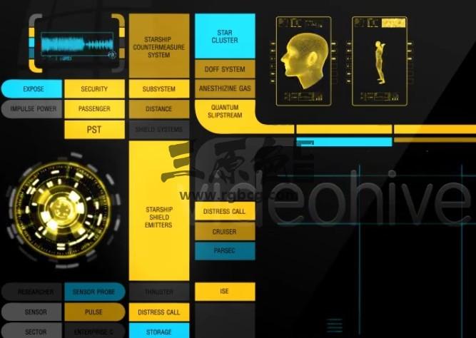 AE模板-HUD生化高科技动画元素 Massive Hud Pack Ae 模板-第1张