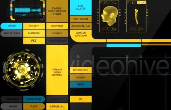 AE模板-HUD生化高科技动画元素 Massive Hud Pack