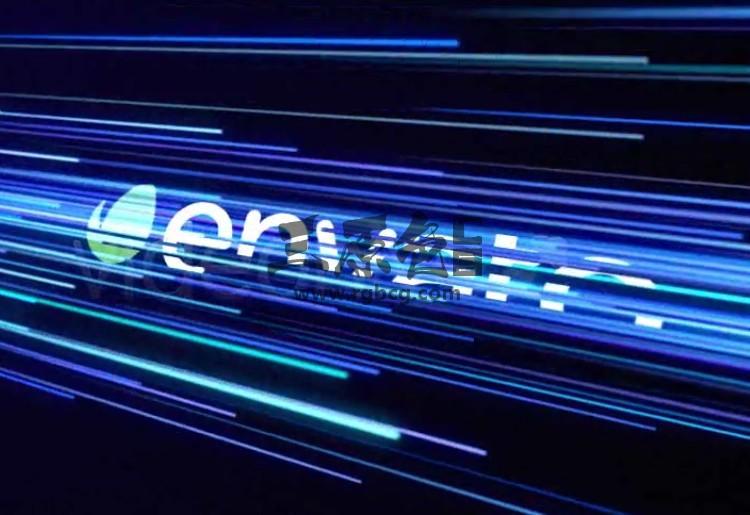 AE模板 粒子光线文字标题特效片头 Network Reveal Ae 模板-第1张