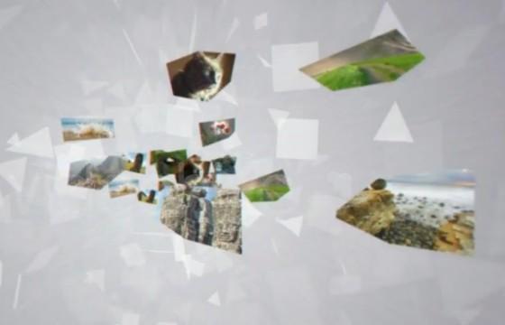 AE模板-图片碎片拼图汇聚LOGO标志显示 Picture Logo Reveal