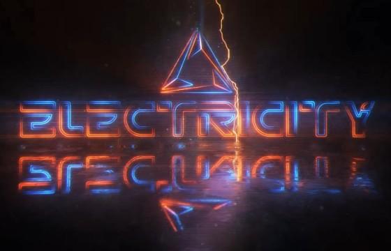 AE模板-霓虹闪电描边文字LOGO片头展示 Power Logo