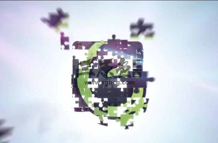 AE模板-益智拼图LOGO动画显示 Puzzle Clean Logo Ae 模板-第1张
