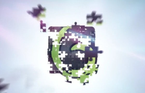 AE模板-益智拼图LOGO动画显示 Puzzle Clean Logo