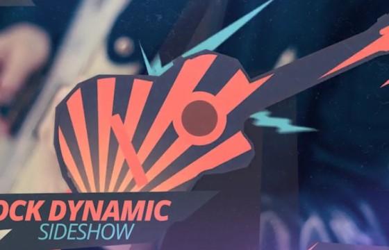 AE模板 吉他摇滚动态图形过渡幻灯片 Rock Dynamic Slideshow
