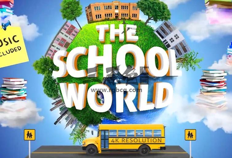 AE模板 学校教育项目创意宣传介绍视频 School Education Opener Ae 模板-第1张