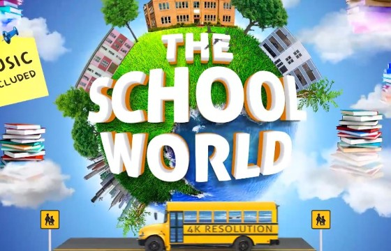 AE模板 学校教育项目创意宣传介绍视频 School Education Opener
