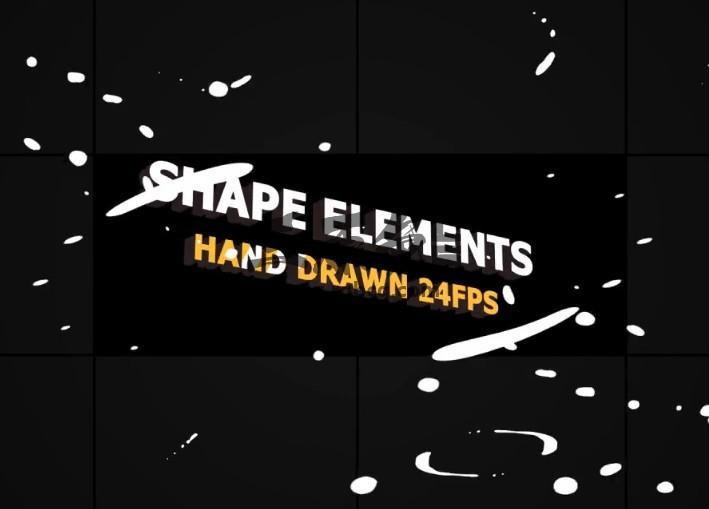 AE模板:MG液体图形动画形状元素包 Shape Elements Pack Ae 模板-第1张