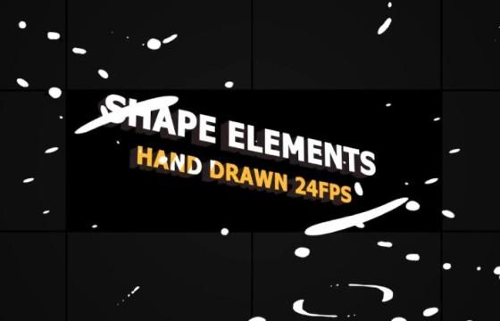 AE模板:MG液体图形动画形状元素包 Shape Elements Pack