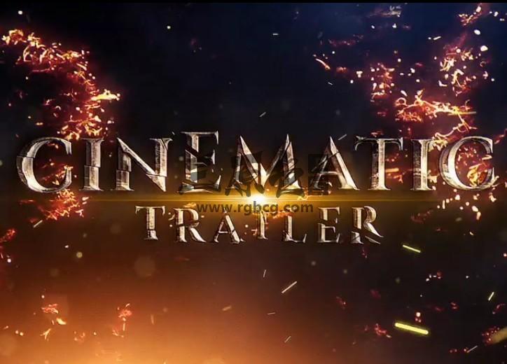 AE模板-破碎的文字电影预告片 Shatter Cinematic Trailer Ae 模板-第1张