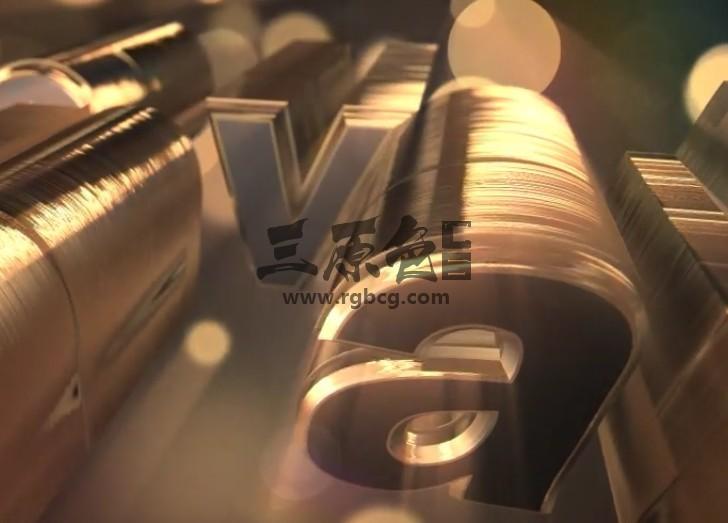 AE模板-E3D三维文字LOGO动画片头 Gold Silver Logo Text Reveal Ae 模板-第1张