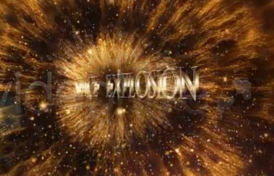 AE模板 LOGO标志粒子爆炸特效 Space Logo Explosion
