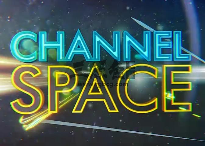 AE模板 太空文字标题描边动画表演 Space Show Logo Title Ae 模板-第1张