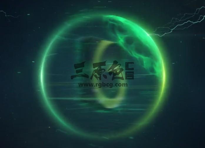 AE模板 太空能量球风暴logo标志 Space Storm Logo Ae 模板-第1张