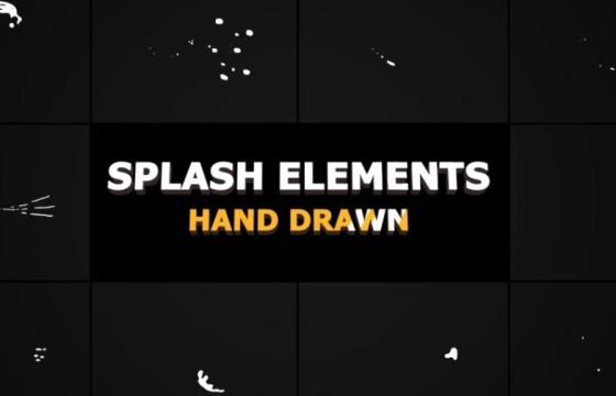AE模板-MG液体飞溅动画元素 Splash Animated Elements